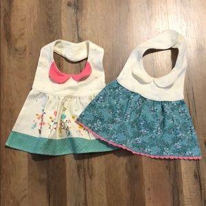 Two fashion bibs